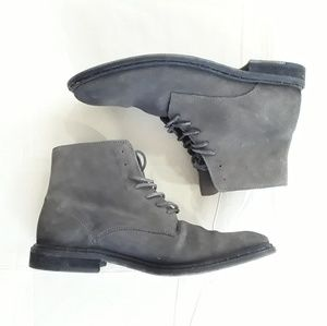 All Saints Gray Dress Boots 10.5